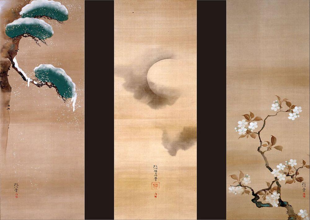 Sakai_Hoitsu_-_SNOW,_MOON_AND_FLOWERS_-_Google_Art_Project