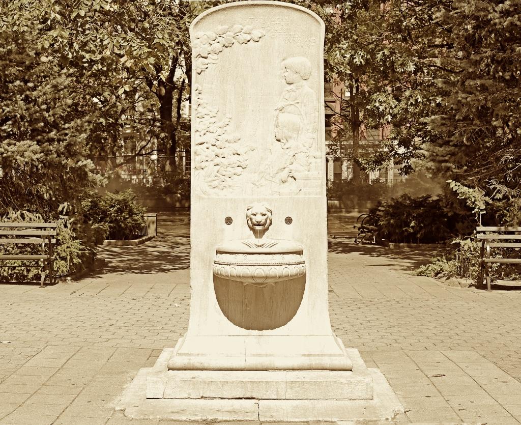 Lion Fountain Tomkins Square Park New York City